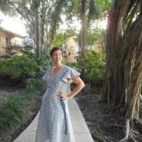 Zinnia Hemp/Cotton Wrap Dress- Vogue V9251
