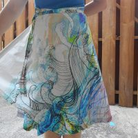 Wave Wrap Skirt Shape Shape 2