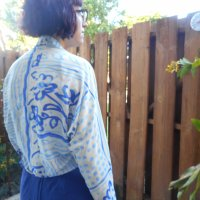 Upside-Down Bolero Jacket Refashion