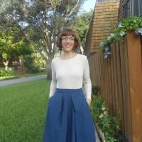 Vintage Issey Miyake V2332 Skirt and Madalynne for Simplicity 8435 Bodysuit