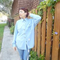 Chambray Vintage Vogue Shirt 8447