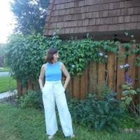 Vintage Butterick 4659 Indigo Dyed Pant and Regatta Rib Knit Tank