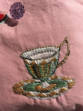 Time for Tea Silk embroidered bag 3