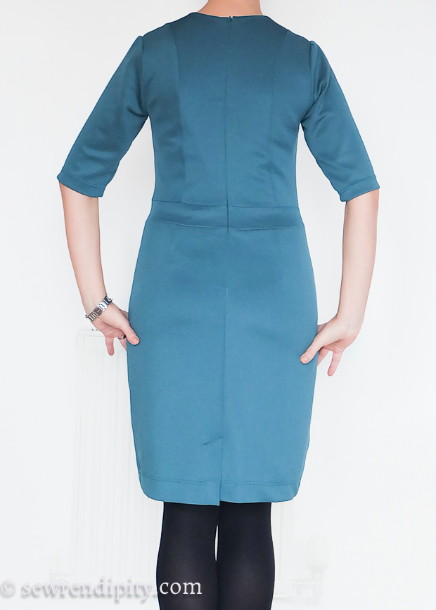 Teal Scuba Sheath Dress