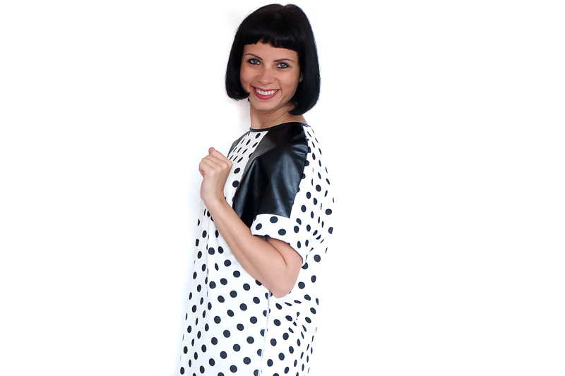 DIY RAGLAN TUNIC DRESS   BURDA 10-2014 #127A