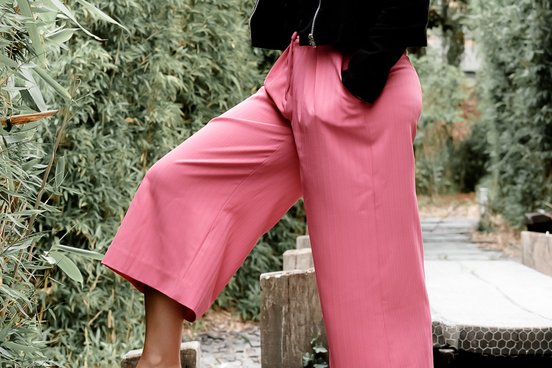 DIY PINK CULOTTES | VOGUE V9032