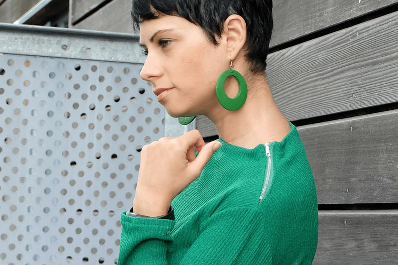 Green Rib Sheath Dress | Burda 11-2015 #114