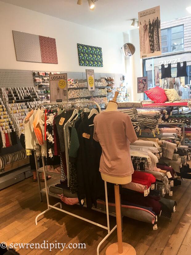 Fabric shopping in Copenhagen Stoff 2000 Valby