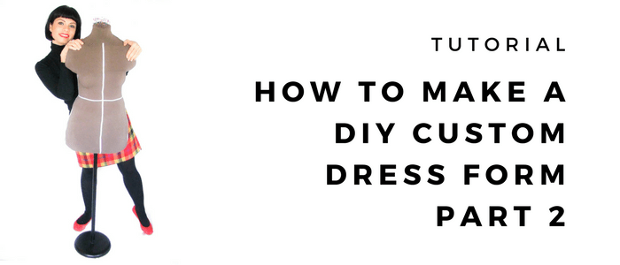 How to make a DIY plaster cast custom dress form – Part 2: Filling the mould
