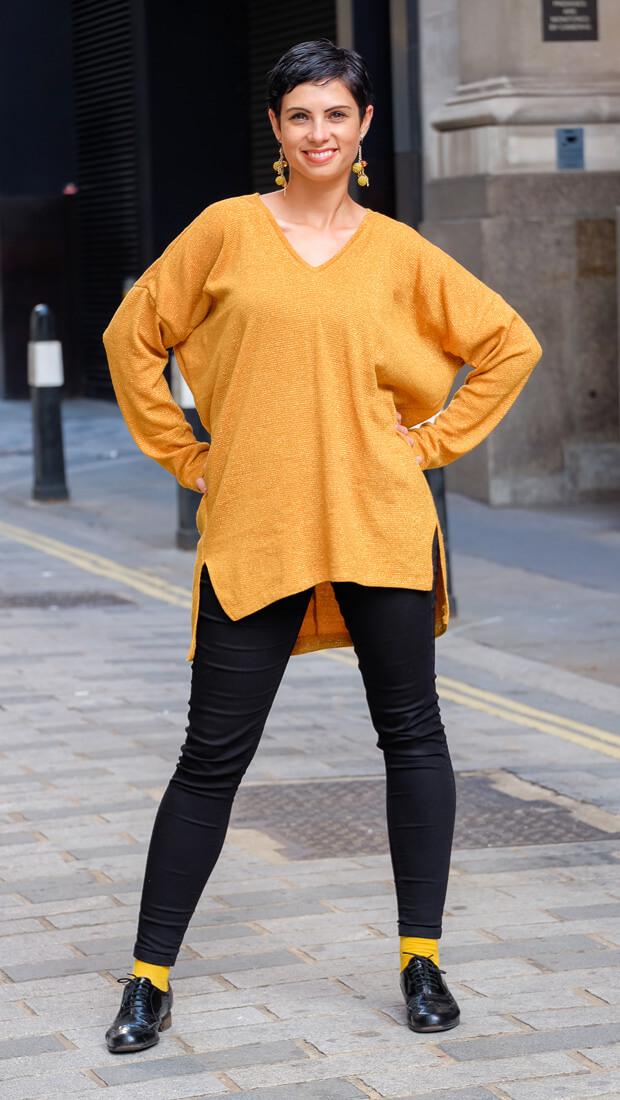 Oversize V-Neck Sweater Burda Style 12-2015 #118A-2