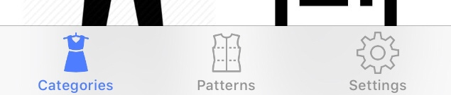 Sewing Pattern App - Sections