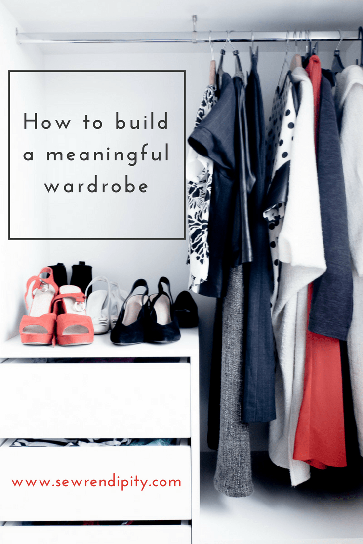 How to build a meaningful wardrobe capsule wardrobe in black, white and red