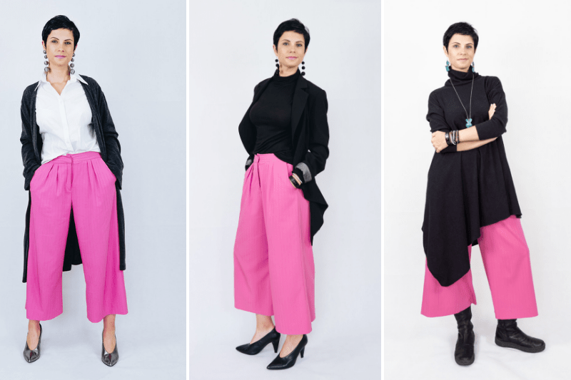 4d7afe39c52a How to style pink culottes for autumn | 3 ideas for work, play and comfort
