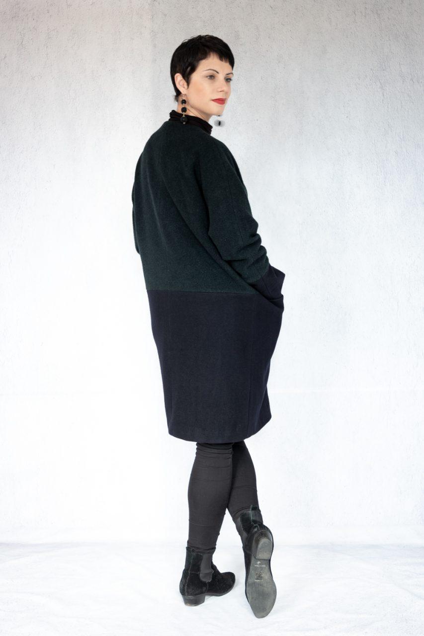 Oversized colour block coat - I am patterns Artemis