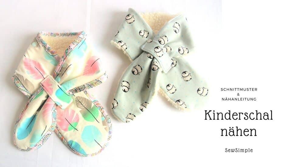 ᐅ eBook: Schal für Kinder nähen   Schnittmuster mit Anleitung