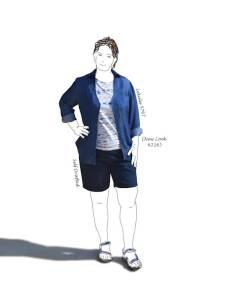 overshirt and shorts