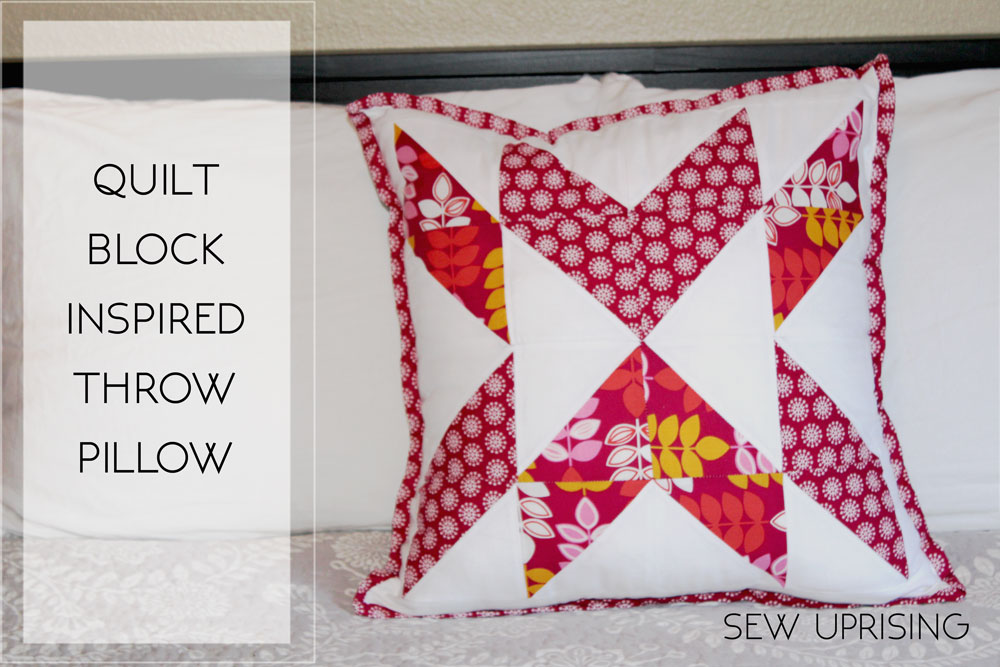 I love the idea of quilting. I adore the time spent picking the perfect fabrics comparing endless options the intricacies of piecing a quilt top ... & Quilt Block Throw Pillow \u2013 Free Sewing Pattern \u2013 Sew Uprising pillowsntoast.com