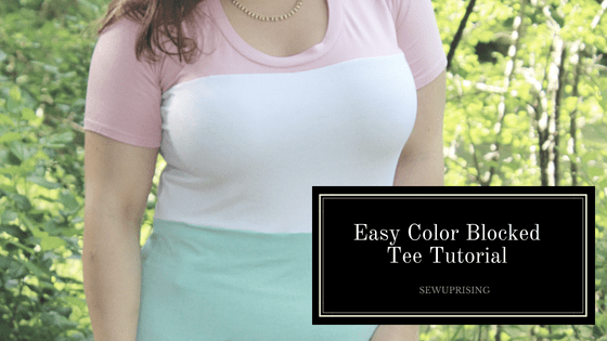 Pattern Hack: Boutique Style Color Blocked Tee – Sew Uprising