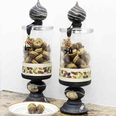 Holiday Apothecary Jar and Acorn Cookies