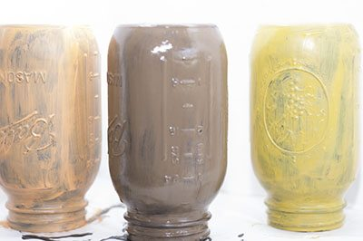 Painted Jars, How to Paint Mason Jars