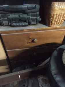 Chest as it was found in my Garage, DIY Trunk Dresser Redo