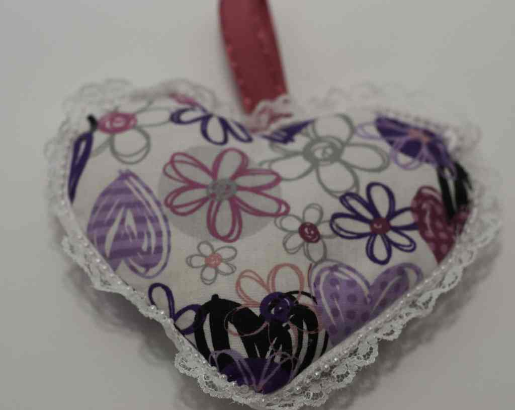 Finished Scented Rice Filled Sachet for DIY Heart Sachet, DIY Heart Sachet