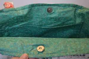 Inside of Tote, Sun Hat; Tote, and Sunglasses case