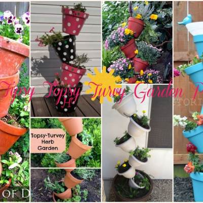 Tipsy Topsy Turvy Garden Pots