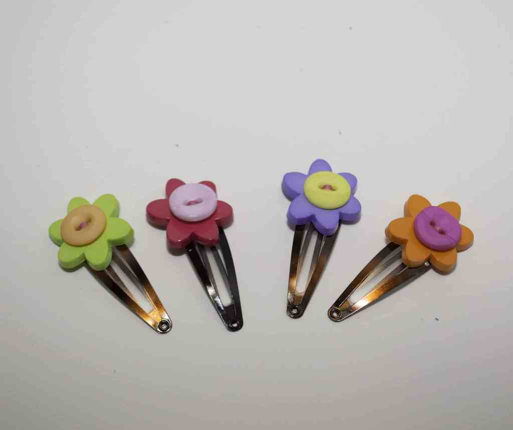 Button Hair Clips, Springtime Button Bonanza