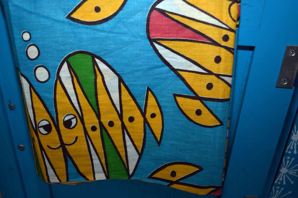 1950's Fish Fabric, transform dated furniture using paint