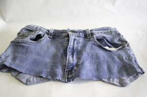 Front-of-Cut-Off-Jeans-300x199 Create New Looks From Old Jeans