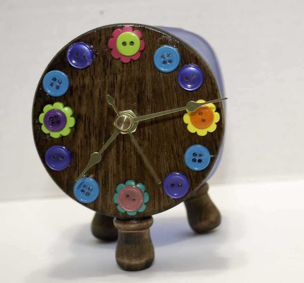 Mason Jar Button Clock, Springtime Button Bonanza