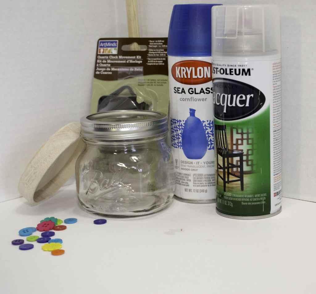 What-You-Will-Need-Mason-Jar-Button-Clock-1024x950 Springtime Button Bonanza