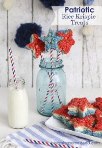 Patriotic Rice Krispy-Treats, July 4th Party