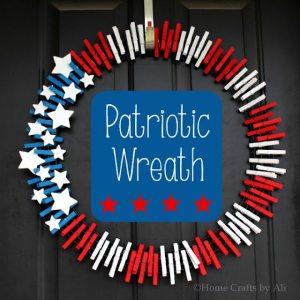 Patriotic Wreath, July 4th party