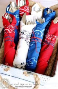 Siverware Wraps, July 4th Party