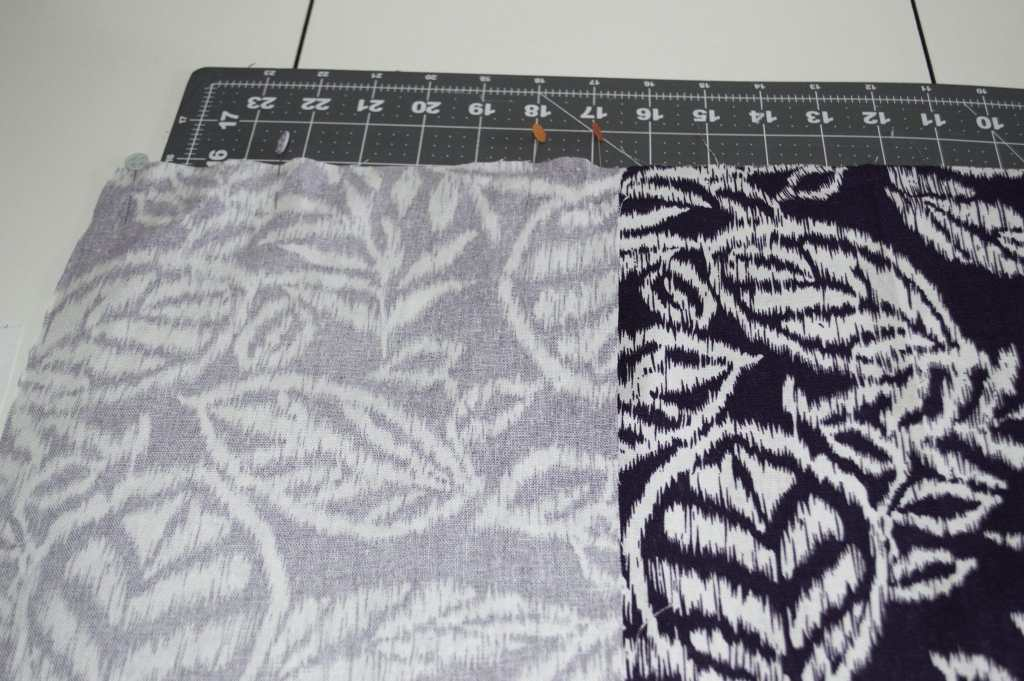 Sew the Smaller Rectangles to the Large Rectangle