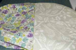Reversible Padded Chair Back Cover
