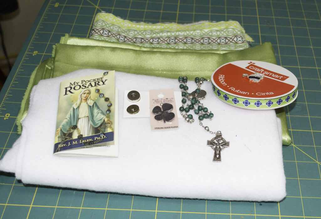 St. Patrick's Padded Pocket Rosary Pouch