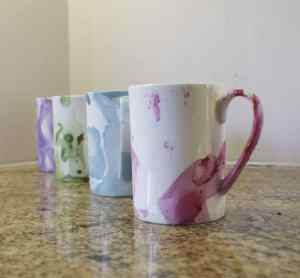 How to Marble Mugs