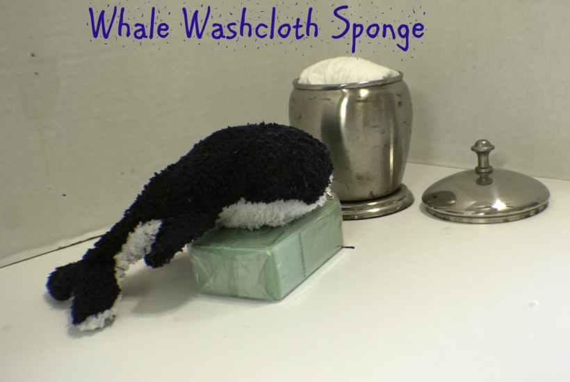 DIY Washcloth Sponge Whale