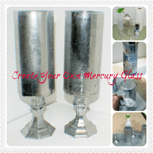Dollar Store Faux Mercury Glass Hurricanes