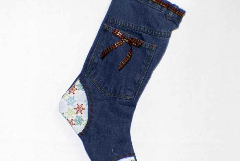 country christmas stockings from jeans