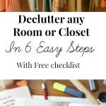 How to Declutter Any Room or Closet in 6 Steps