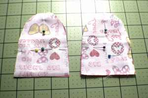 Sew-the-ears-right-sides-together-300x199 How to Sew a Drawstring Easter Bunny Bag