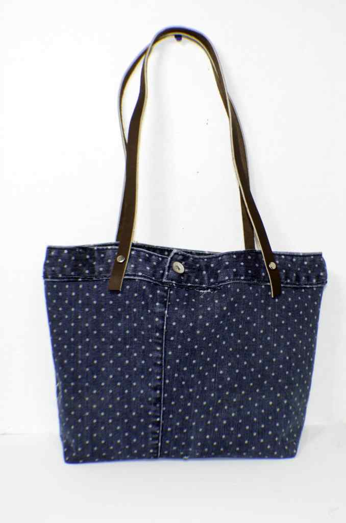 Upcycled Jeans Tote Bag Pattern and Tutorial