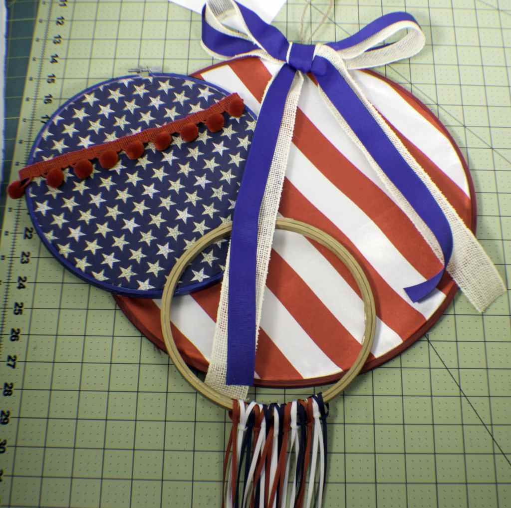 Glue-the-hoops-together-1024x1018 Patriotic Embroidery Hoop Art