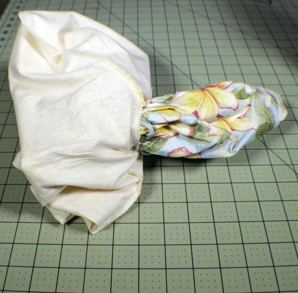 Turn-the-bag-1024x1006 How to Make a Fabric Closet Safe