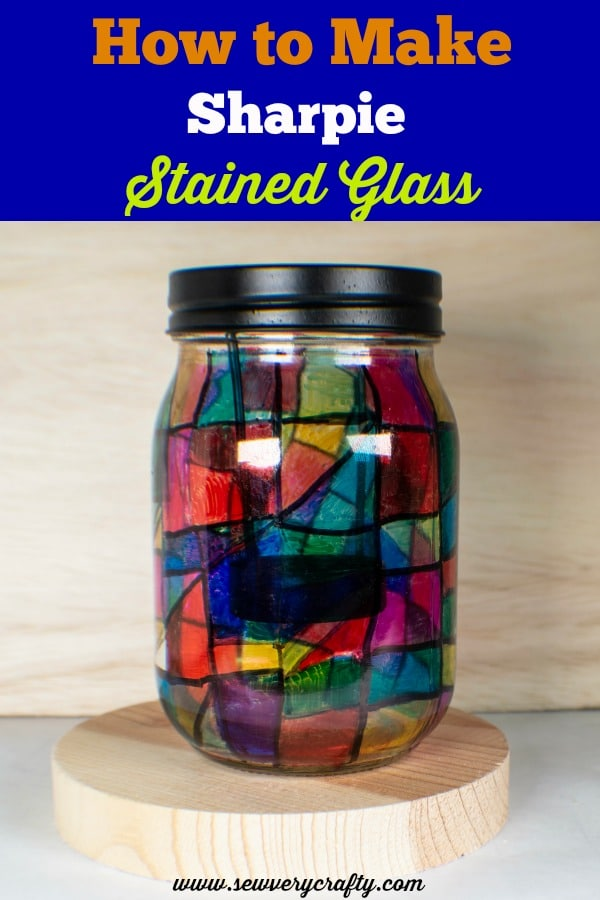 Sharpie-Glass-Blue How to Make Sharpie Stained Glass