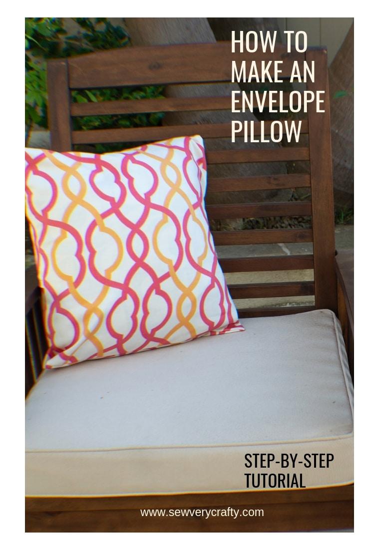 an envelope pillow sew very crafty